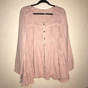 Free People Oversized Button-down Tunic Top